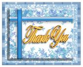 stock photo of thank you card  - image created using x3d and adobe photoshop - JPG