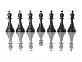 stock photo of megalomania  - Conceptual image of false leadership - JPG