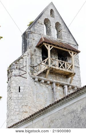 ruin of old church in Noaillan, Aquitaine, France