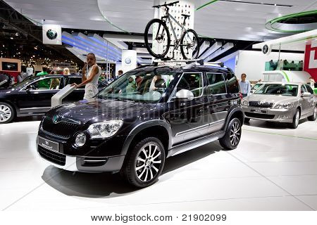Moscow, Russia - August 25:  Black Car Skoda Yeti At Moscow International Exhibition Interauto On Au