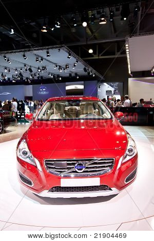 Moscow, Russia - August 25: Red Car Volvo C60  At Moscow International Exhibition Interauto On Augus