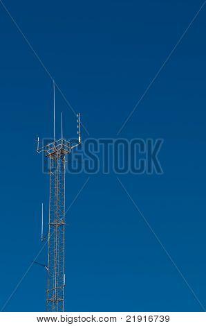 Communication Antenna against Blue Sky