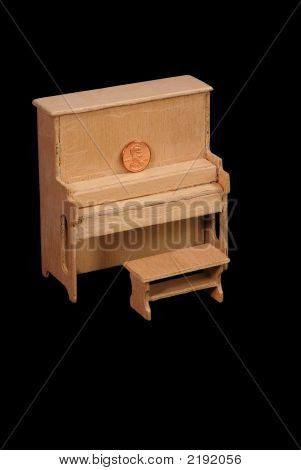 Unfinished Dollhouse Piano And Bench