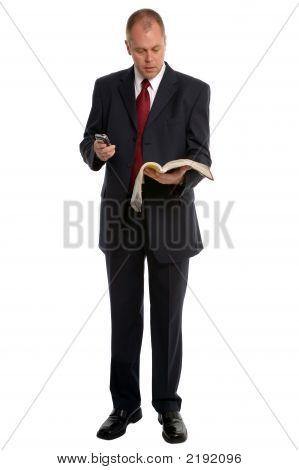 Hombre de negocios con agenda