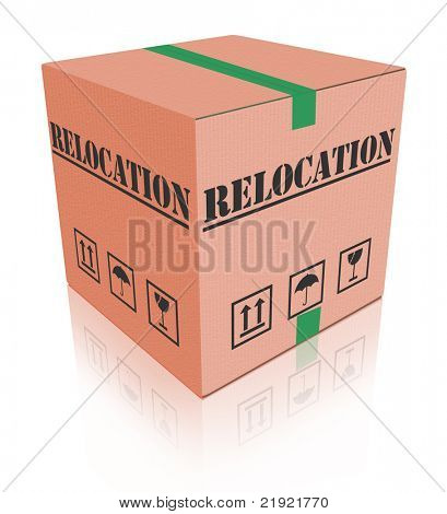 relocation cardboard box to move goods moving container