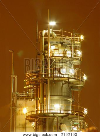 Gas And Oil Refinery Tower
