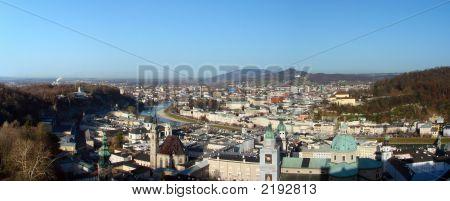 Salzburg Old Town Panorama