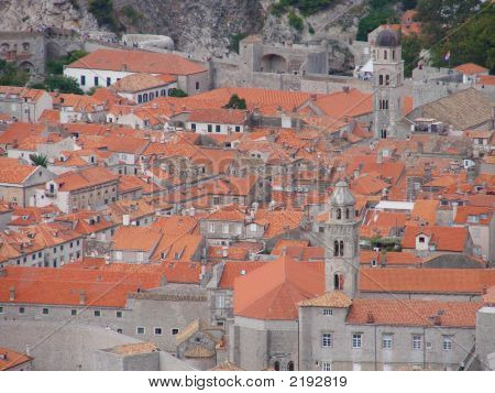 Terracotta Rooftops Of Dubrovnik