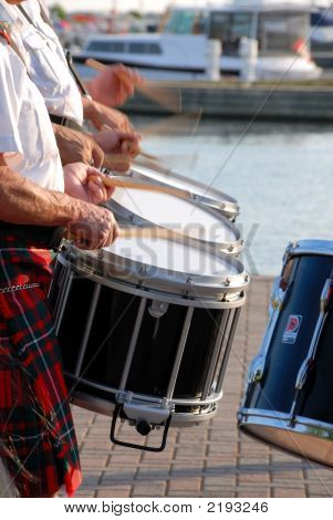 Drummers On The Shore