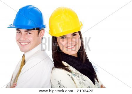 Couple Of Young Architects