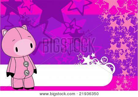 pig cartoon plush background