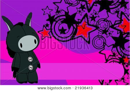 donkey cartoon plush background