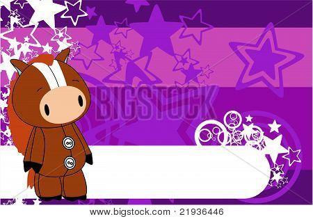 horse cartoon plush background