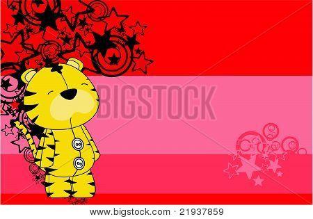tiger plush cartoon background