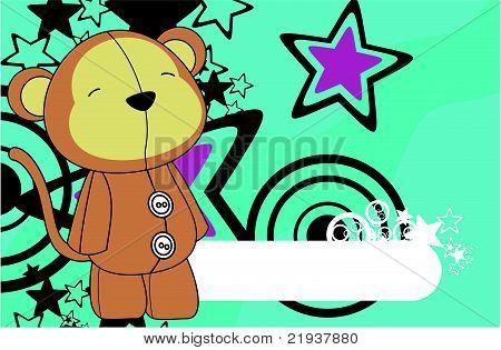monkey plush cartoon background