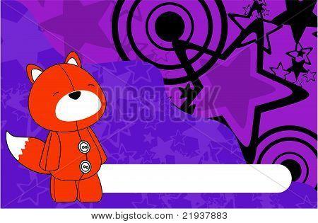 fox plush cartoon background