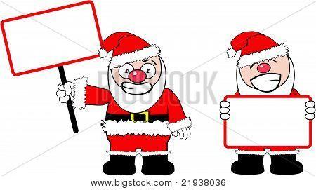 santa claus cartoon singboard