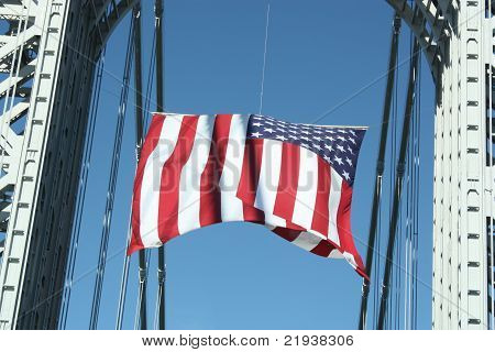 American Flag in Tribute to 911