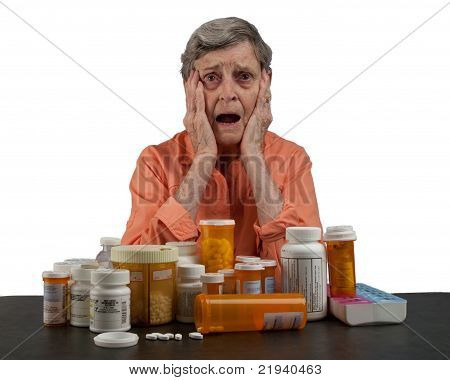 Senior Woman with Medications