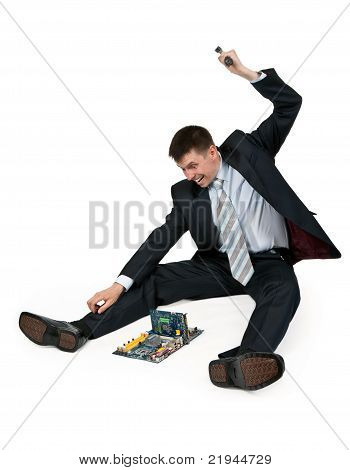 Businessman With A Hammer