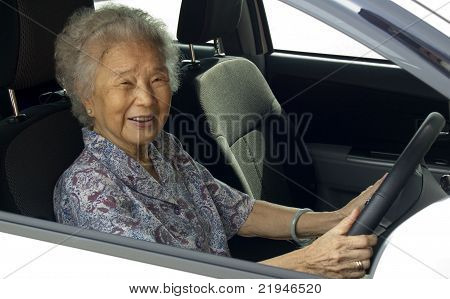 Old Woman And Car