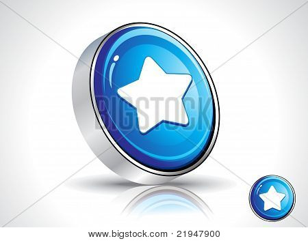 Abstract Blue Shiny Star Icon