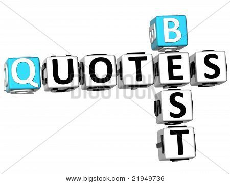 3D Best Quotes Crossword