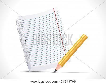 Abstrakte Notizblock mit Bleistift-Symbol