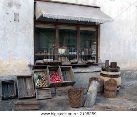 Old-Looking Shop Window