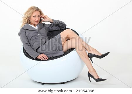 Businesswoman in a chair