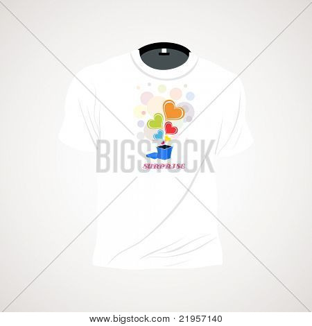 background with isolated white tshirt, illustration