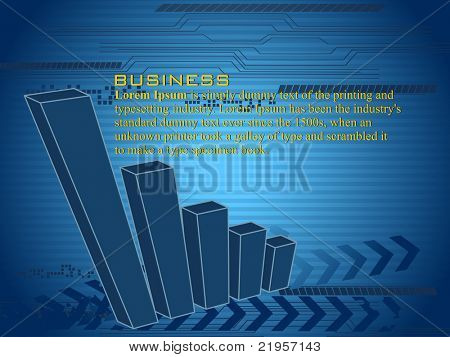 vector business graph background, illustration