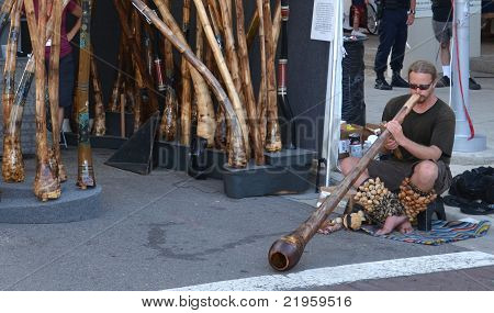 Didgeridoo Player At Ann Arbor Art Fair
