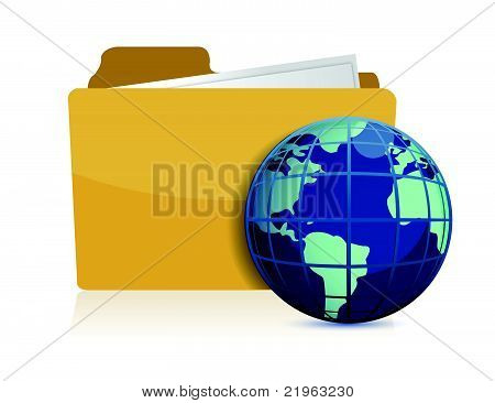 international business concept illustration design