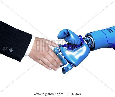 Hand Shake With Robot