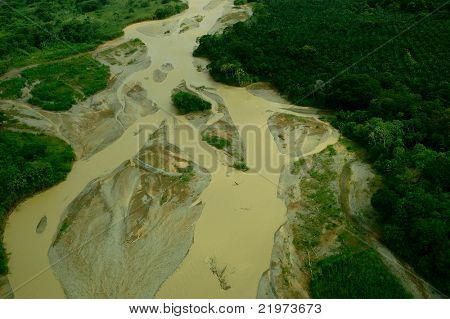 Aerial View of Muddy River