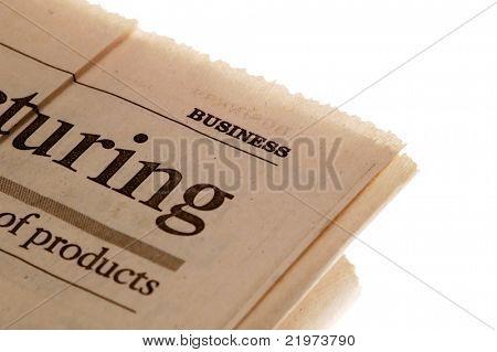 Business-Abschnitt einer Zeitung