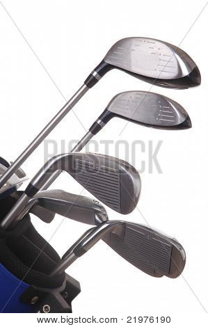 Golf Clubs in Bag isolated over white
