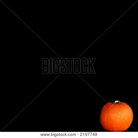 Pumpkin Isolated On Black