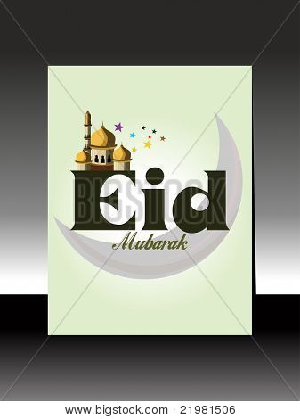 vector greting card for eid mubarak