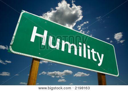 """Humility"" Road Sign"