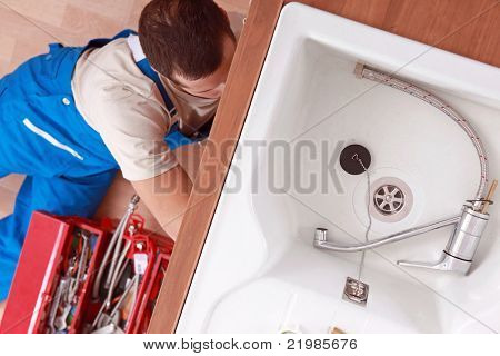 view of a plumber