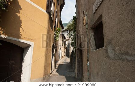Narrow alleyway.
