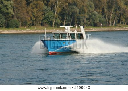 Policeboat On Rhine