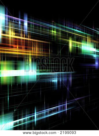 Abstract Mulitcolored Blurred Design