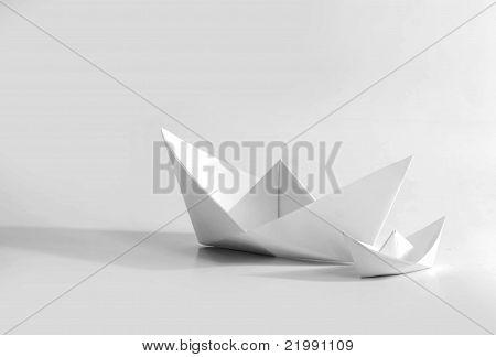 Paper Boat (Origami Art)