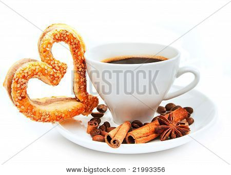 cookies and cup of coffee