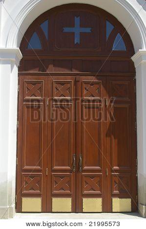 Wooden gothic doors