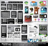 Web Black Stuff EXTREME Collection: 3 Full websites,hundreds of icons,headers,footers,login forms, p