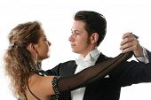 picture of ballroom dancing  - dancer ballroom dancing couple tango partners dance - JPG